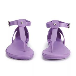 Size 6 / 37 Hunter Purple T-Bar Strappy Sandals